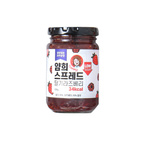 설탕없는과자공장 얌희스프레드 딸기라즈베리 가격