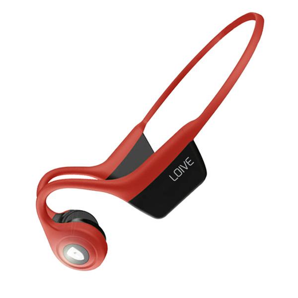 dooco 로이브 골전도 블루투스 이어폰, H100, 레드