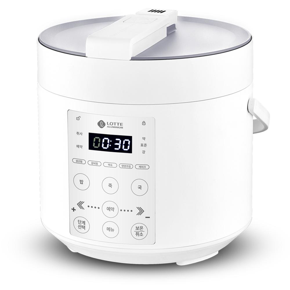 롯데알미늄 디지털 미니 전기 압력 밥솥 4인용, LRC30A(화이트)