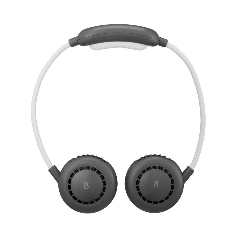 프롬비 넥밴드 2세대 목걸이 USB겸용 휴대용 선풍기, FB151, 쿨그레이