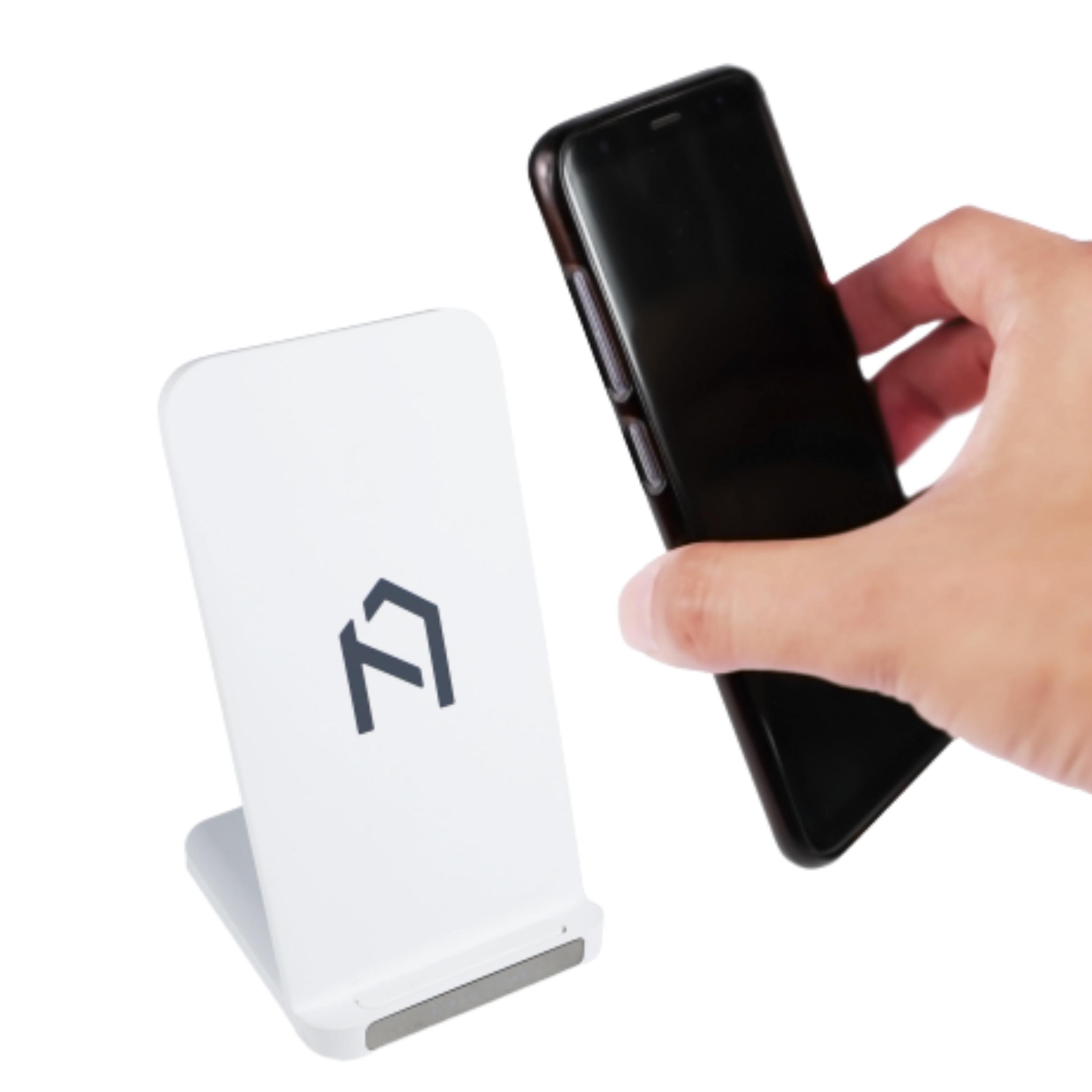 필링홈 퀵플 듀얼코일 스마트폰 15W 고속무선충전기, 화이트, 1개