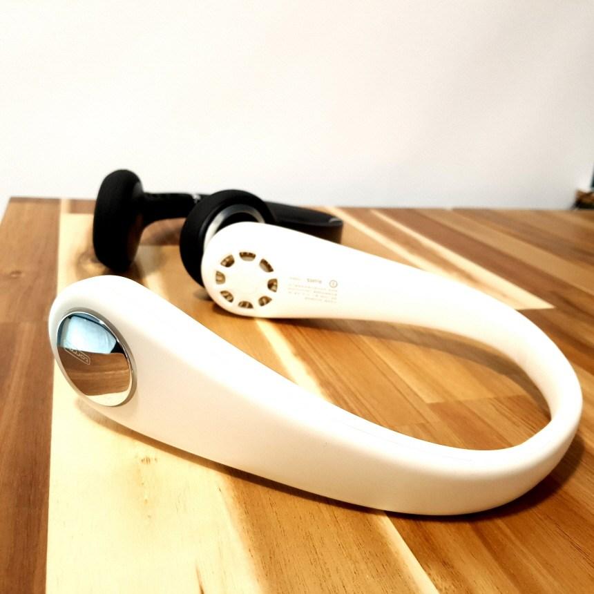 넥밴드선풍기 세련된 USB충전식 목걸이선풍기, A형 2020신형 디자인-아이보리(폭조절가능)