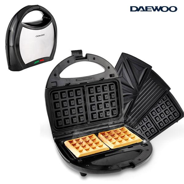 DAEWOO 와플메이커 논스틱코팅열판 샌드위치메이커 간식메이커 750W, DAEWOO와플메이커D220