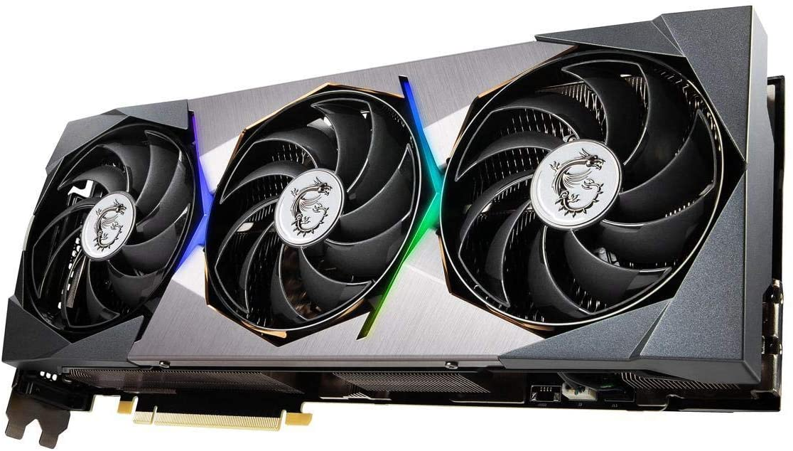 (관부가세별도) MSI GeForce RTX 3080 SUPRIM X 10G 10GB 320-Bit GDDR6X Video Card-B08QW8BKDV, one colorone size