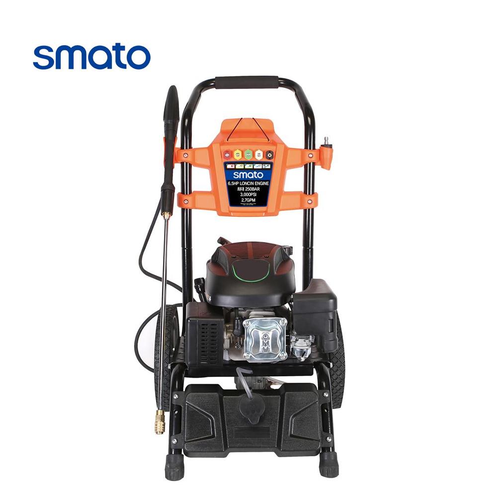 스마토 엔진식 고압세척기 SM-250EG 론신6.5HP 엔진 세차기 황동펌프 250bar 외벽청소 산업용, 엔진식 고압세척기/SM-250EG