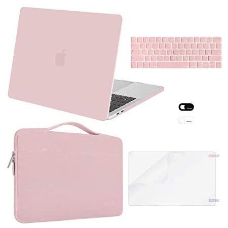 맥북 프로 13인치 2020 하드 케이스 P234 키스킨 액정보호필름 파우치 MOSISO Compatible with MacBook Pr, One Color