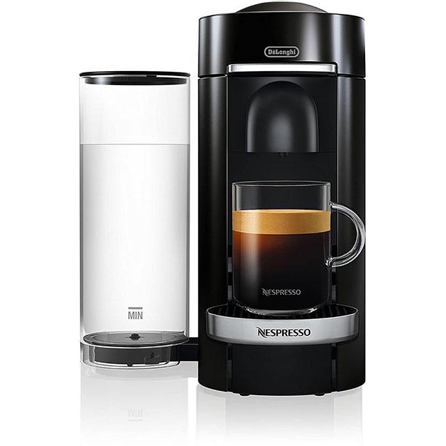 Nespresso by De'Longhi VertuoPlus Deluxe Coffee and Espresso Machine 네스프레소 버츄오 디럭스 커피 머신 Black, 단일상품